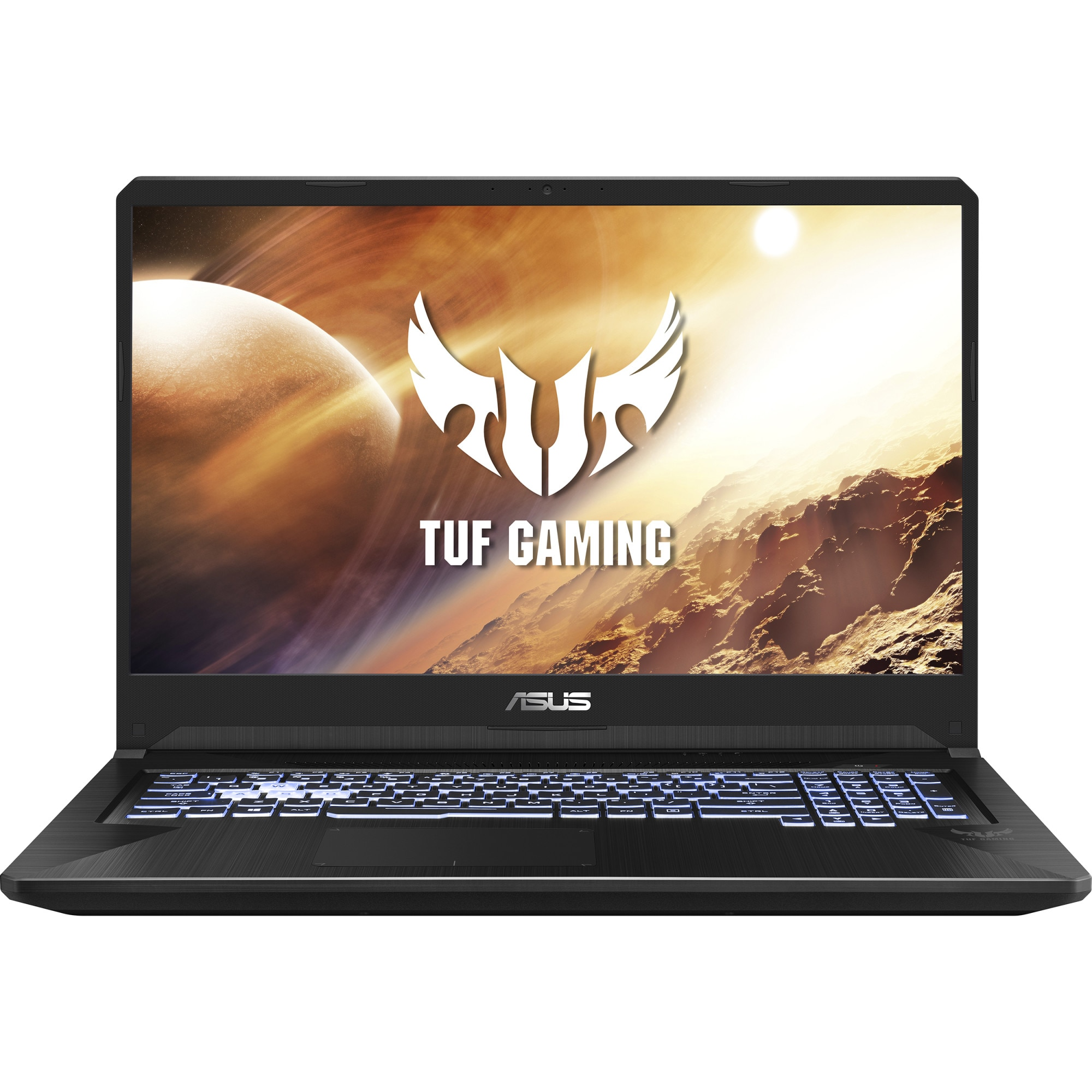 "Fotografie Laptop Gaming ASUS TUF FX505DT cu procesor AMD Ryzen™ 7 3750H pana la 4.00 GHz, 15.6"", Full HD, 144Hz, 16GB, 512GB SSD, NVIDIA® GeForce® GTX 1650 4GB, Free DOS, Gold Steel"