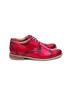 Pantofi Barbati Narubo, 100% Piele Naturala, Rosu, 43 EU