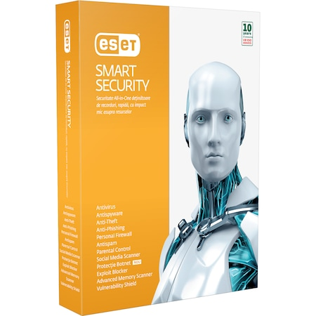 ESET Smart Security Multipack v9, 1 an, 4 utilizatori