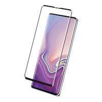 Eiger 3D Glass Case Friendly Full Screen Tempered Glass - калено стъклено защитно покритие с извити ръбове за целия дисплея на Samsung Galaxy S10E (черен-прозрачен)