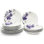 Сервиз за хранене Morello, 18 части, Лилаво цвете