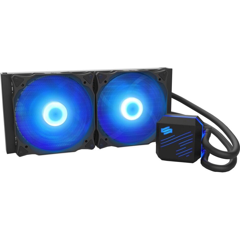 Fotografie Cooler Procesor SilentiumPC Navis RGB, 280mm, Racire cu lichid, compatibil Intel/AMD