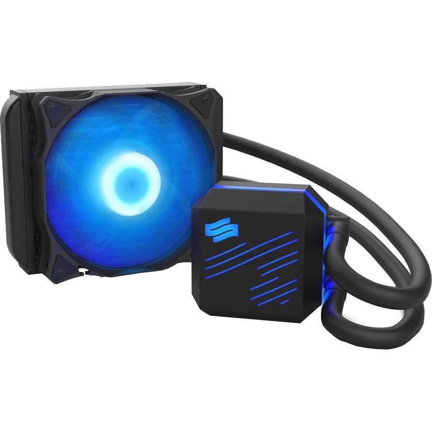 Fotografie Cooler Procesor SilentiumPC Navis RGB, 120mm, Racire cu lichid, compatibil Intel/AMD