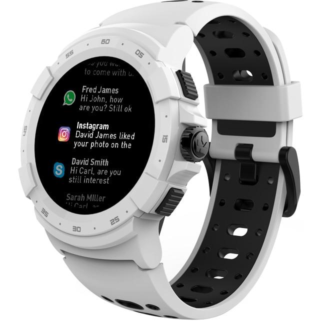 Fotografie Smartwatch MyKronoz ZeSport 2 GPS, Optica HR, Alb/Negru