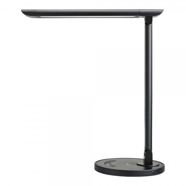 Fotografie Lampa LED de birou TaoTronics TT-DL13, control touch, USB, 9W, 400 lm, A+, 40 cm, Negru