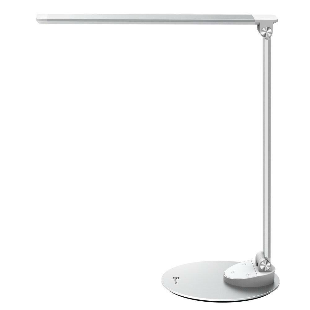 Fotografie Lampa LED de birou TaoTronics TT-DL19, control touch, USB, 9W, 400 lm, A+++, 42 cm, Argintiu