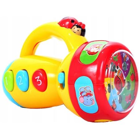 Interaktywna latarka dla dzieci 5 slajdów rzutnik muzyka edukacyjna Y206
