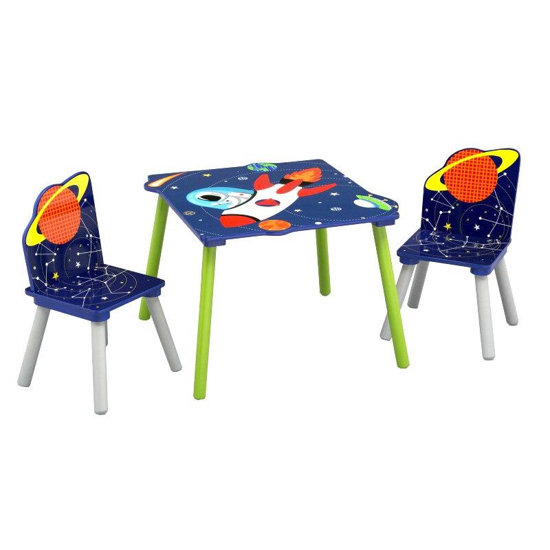 Fotografie Set Delta Children Astronaut, masuta si 2 scaunele, Albastru