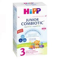 Lapte praf Hipp 3 Combiotic Junior 1+, pentru copii in crestere, 500g