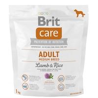 Храна за кучета Brit Care, Adult, Medium Breed, Агнешко и ориз, 1 кг