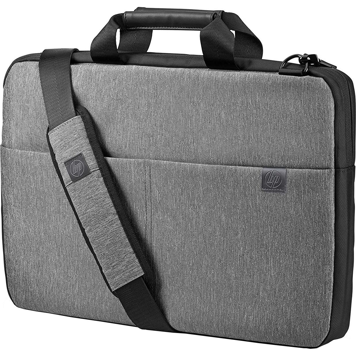 "Fotografie Geanta laptop HP Signature Slim Topload, 17.3"", Gri/Negru"