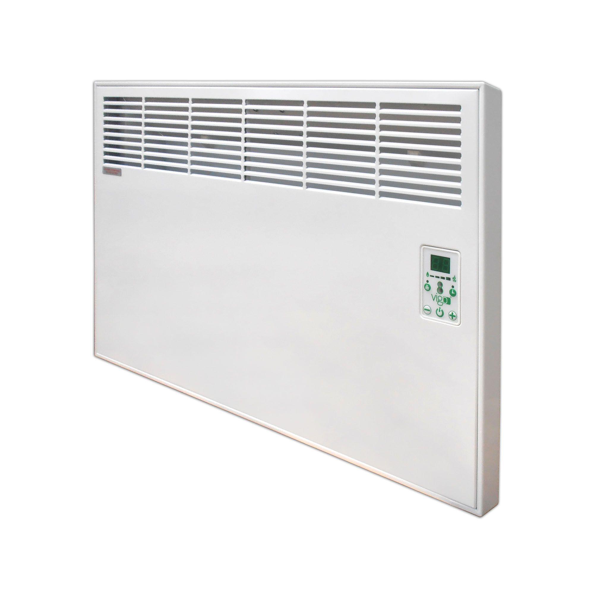 Fotografie Convector digital de perete sau pardoseala Vigo EPK 1500 W, control electronic, Termostat de siguranta, termostat reglabil, IP 24, ERP 2018