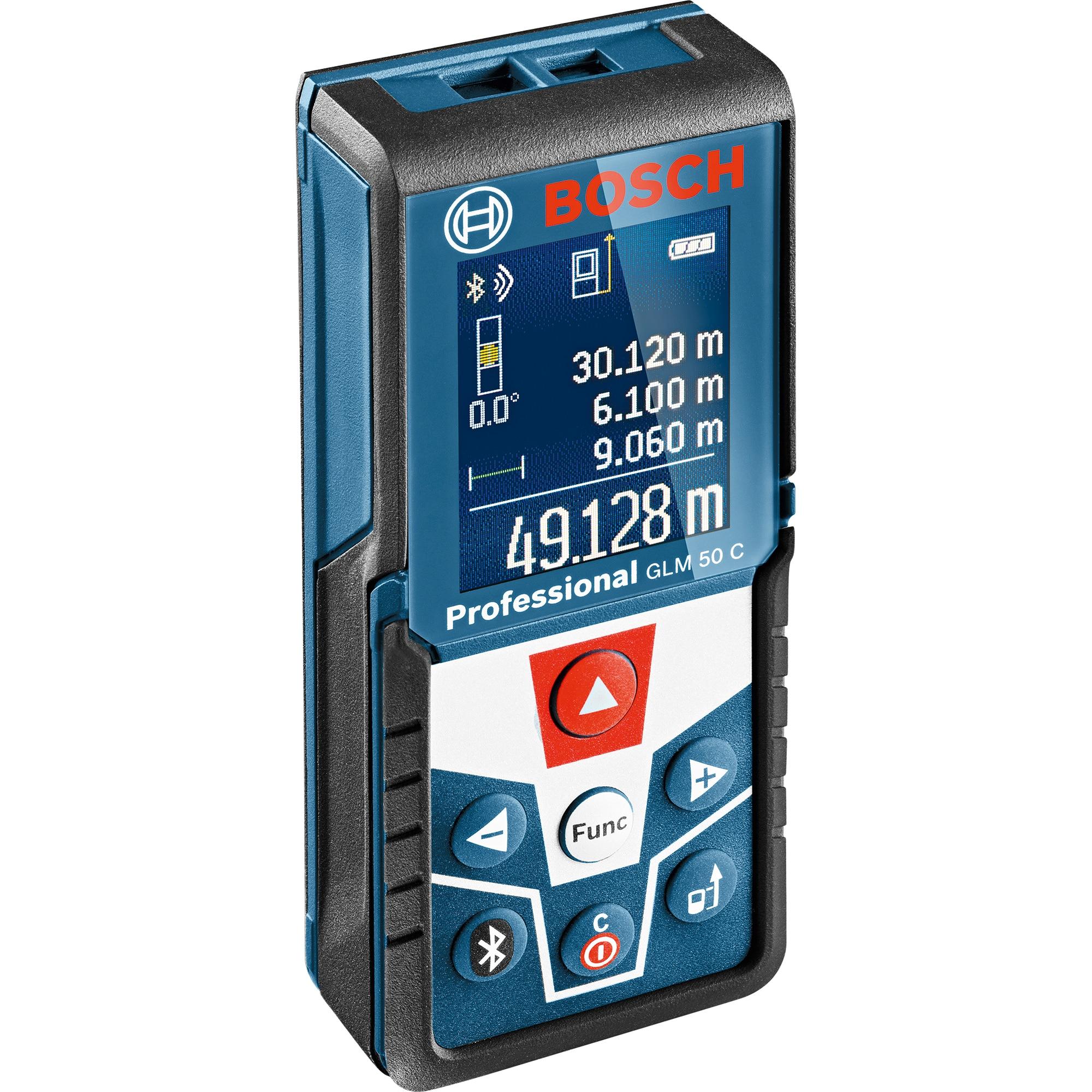 Fotografie Telemetru cu laser Bosch Professional GLM 50 C, 50 m, 635 nm dioda laser