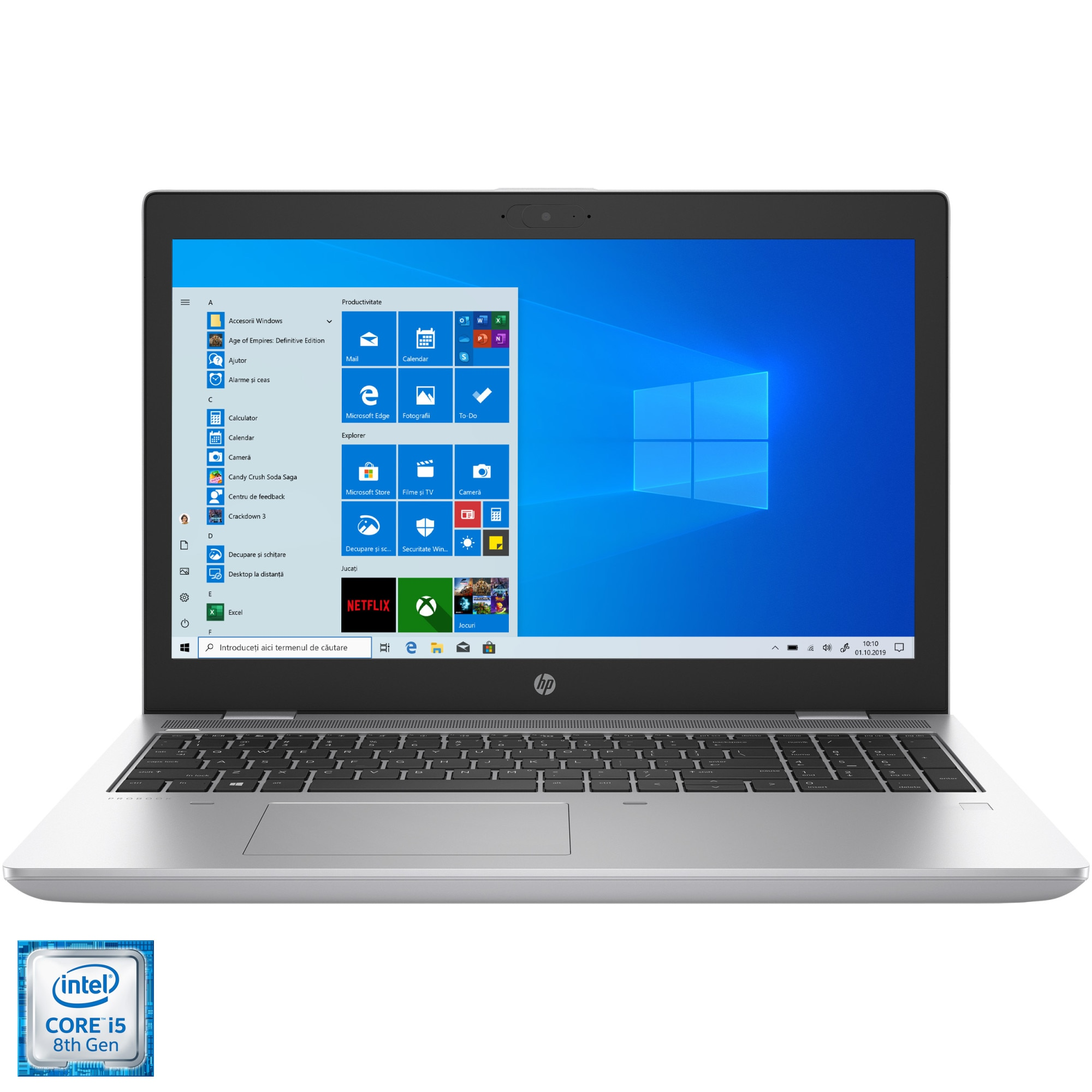 "Fotografie Laptop HP ProBook 650 G5 cu procesor Intel® Core™ i5-8265U pana la 3.90 GHz Whiskey Lake, 15.6"", Full HD, IPS, 16GB, 512GB SSD, Intel UHD Graphics, Windows 10 Pro, Silver"