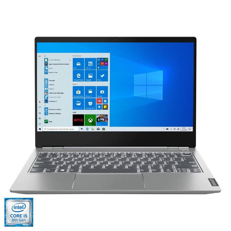 "Fotografie Laptop ultraportabil Lenovo ThinkBook 13s-IWL cu procesor Intel® Core™ i5-8265U pana la 3.90 GHz Whiskey Lake, 13.3"", Full HD, 8GB, 256GB SSD, Intel UHD Graphics 620, Windows 10 Pro, Mineral Grey"