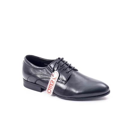 Pantofi eleganti barbat din piele naturala Otter QRA33531 01-N,negru 42 EU