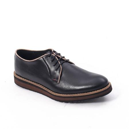Pantofi casual barbati din piele naturala, Catali 505, negru 42 EU