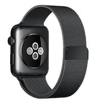 Каишка iUni Milanese Loop за Apple Watch 40 мм Стомана Черен