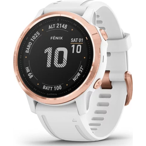 Fotografie Ceas Smartwatch Garmin Fenix 6S Pro, 42 mm, Rose/Gold, White
