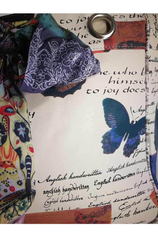 Vidám, fiatalos Kitűnő Minőségű Barna Pillangós Női Táska