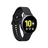 Samsung Galaxy Watch Active 2 okosóra, 44 mm, aluminium kivitel, fekete szilikonpánttal