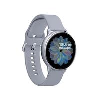 Samsung Galaxy Watch Active 2 okosóra, 44 mm, aluminium kivitel, ezüst szilikonpánttal