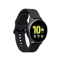 Samsung Galaxy Watch Active 2 okosóra, 40 mm, aluminium kivitel, fekete szilikon pánttal