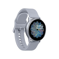 Samsung Galaxy Watch Active 2 okosóra, 40 mm, aluminium kivitel, ezüst szilikonpánttal