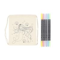 Színezhető, sellő tornazsák textilfilccel