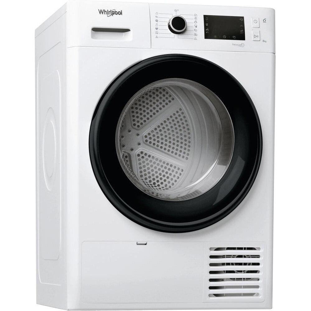 Fotografie Uscator de rufe Whirlpool FreshCare+ FTM228X3BEU, Pompa de caldura, 8 kg, Clasa A+++, Motor Inverter, 6th Sense, Display LCD, Alb
