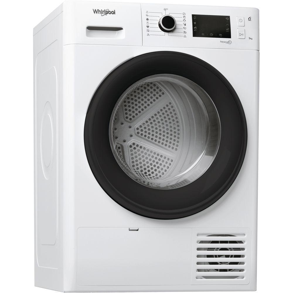 Fotografie Uscator de rufe Whirlpool FreshCare+ FTM229X2BEU, Pompa de caldura, 9 kg, Clasa A++, Motor Inverter, 6th Sense, Display LCD, Alb