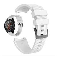 Силиконова каишка Spulse за ,Samsung Galaxy Watch R800 ,Watch 3, Huawei watch GT/GT2/GT2 Pro, бял