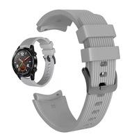 Силиконова каишка Spulse за ,Samsung Galaxy Watch R800 ,Watch 3, Huawei watch GT/GT2/GT2 Pro, сива
