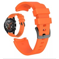 Силиконова каишка Spulse за ,Samsung Galaxy Watch R800 ,Watch 3, Huawei watch GT/GT2/GT2 Pro, оранжева