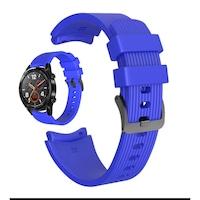 Силиконова каишка Spulse за ,Samsung Galaxy Watch R800 ,Watch 3, Huawei watch GT/GT2/GT2 Pro, синя