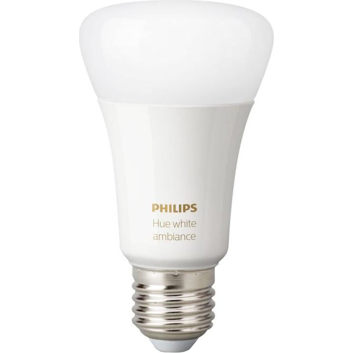 Fotografie Bec inteligent LED Philips HUE, Bluetooth/Wireless, E27, 9W (60W), 806 lm, A+, lumina alba