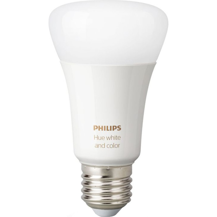 Fotografie Bec inteligent LED RGBW Philips HUE, Bluetooth/Wireless, E27, 9W (60W), 806 lm, A+, lumina alba/color