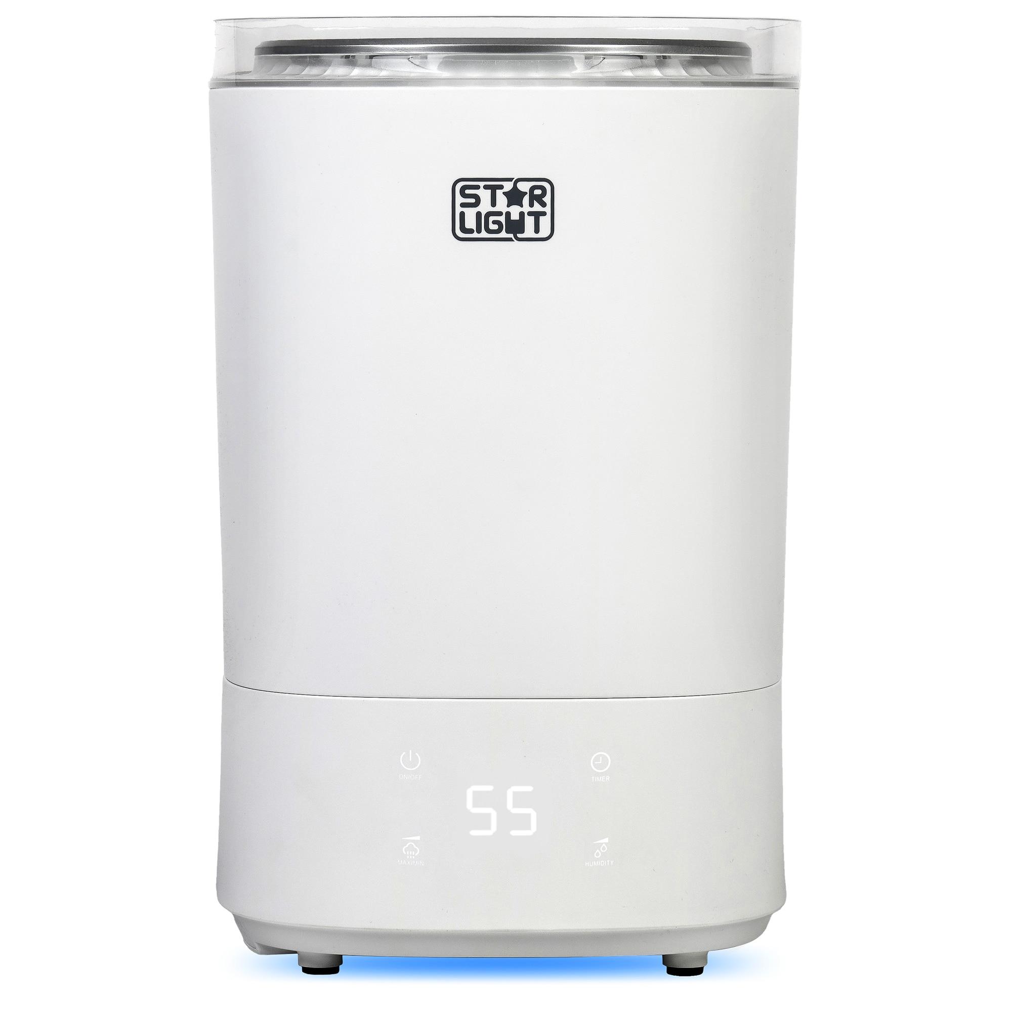 Fotografie Umidificator de aer Star-Light UCS-5530WH, rezervor 5.5l, Display LED, Timer, Control touch, Alb