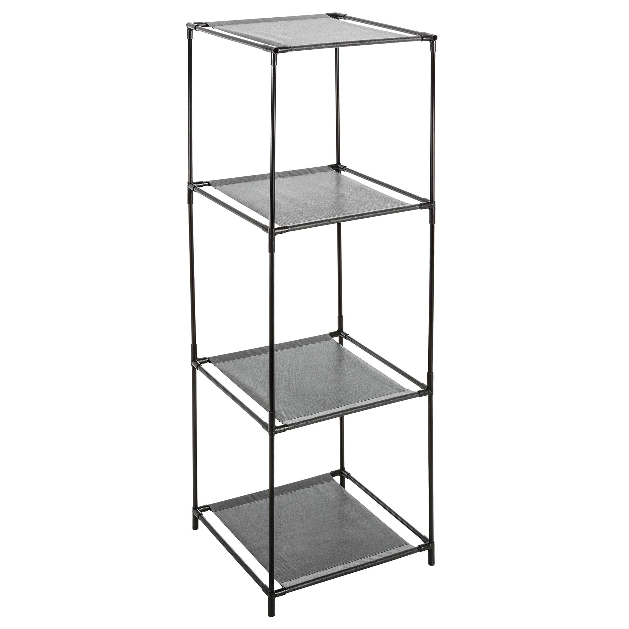 Fotografie Etajera modulara 3 compartimente 5Five, pentru cutii depozitare, neagra