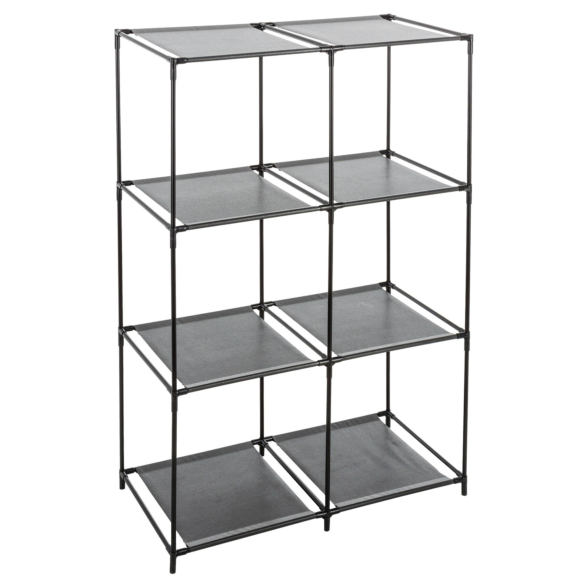 Fotografie Etajera modulara 6 compartimente 5Five, pentru cutii depozitare, neagra