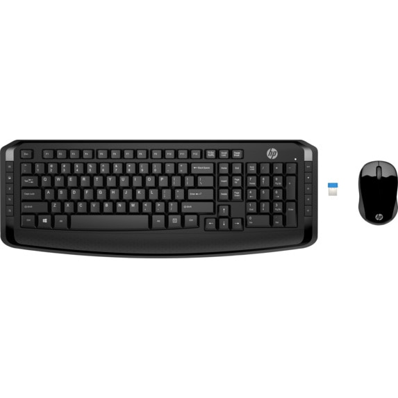 Fotografie Kit tastatura + mouse wireless HP 300, Negru