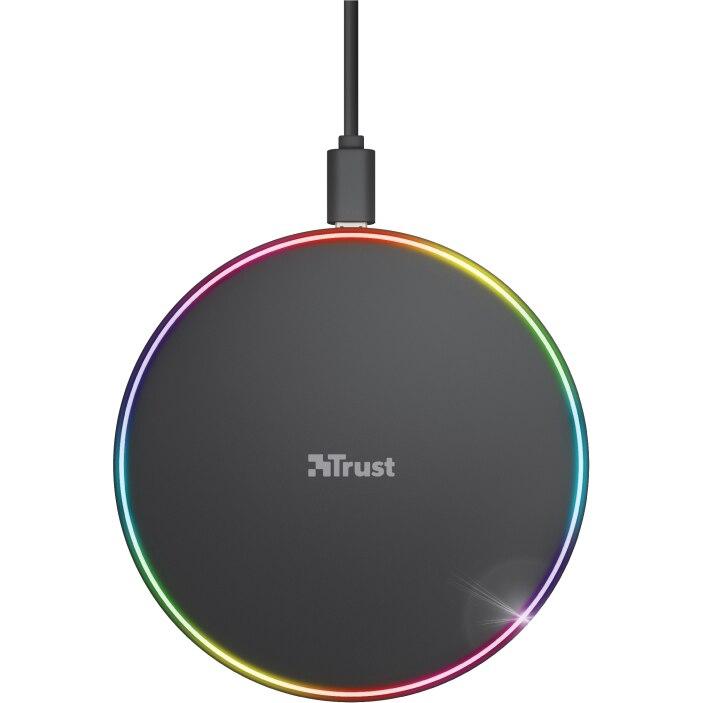 Fotografie Incarcator wireless Trust Lumo10 RGB, 7.5W/10W