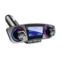 Autórádió formájú Bluetooth FM transzmitter, LED kijelzővel