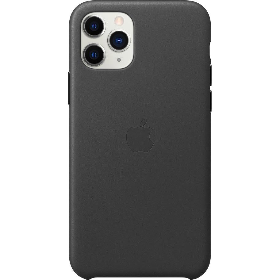 Fotografie Husa de protectie Apple pentru iPhone 11 Pro, Piele, Black