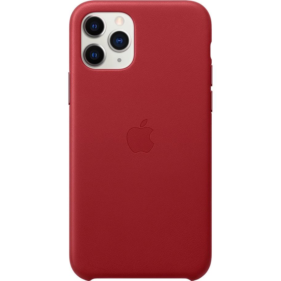 Fotografie Husa de protectie Apple pentru iPhone 11 Pro, Piele, Red