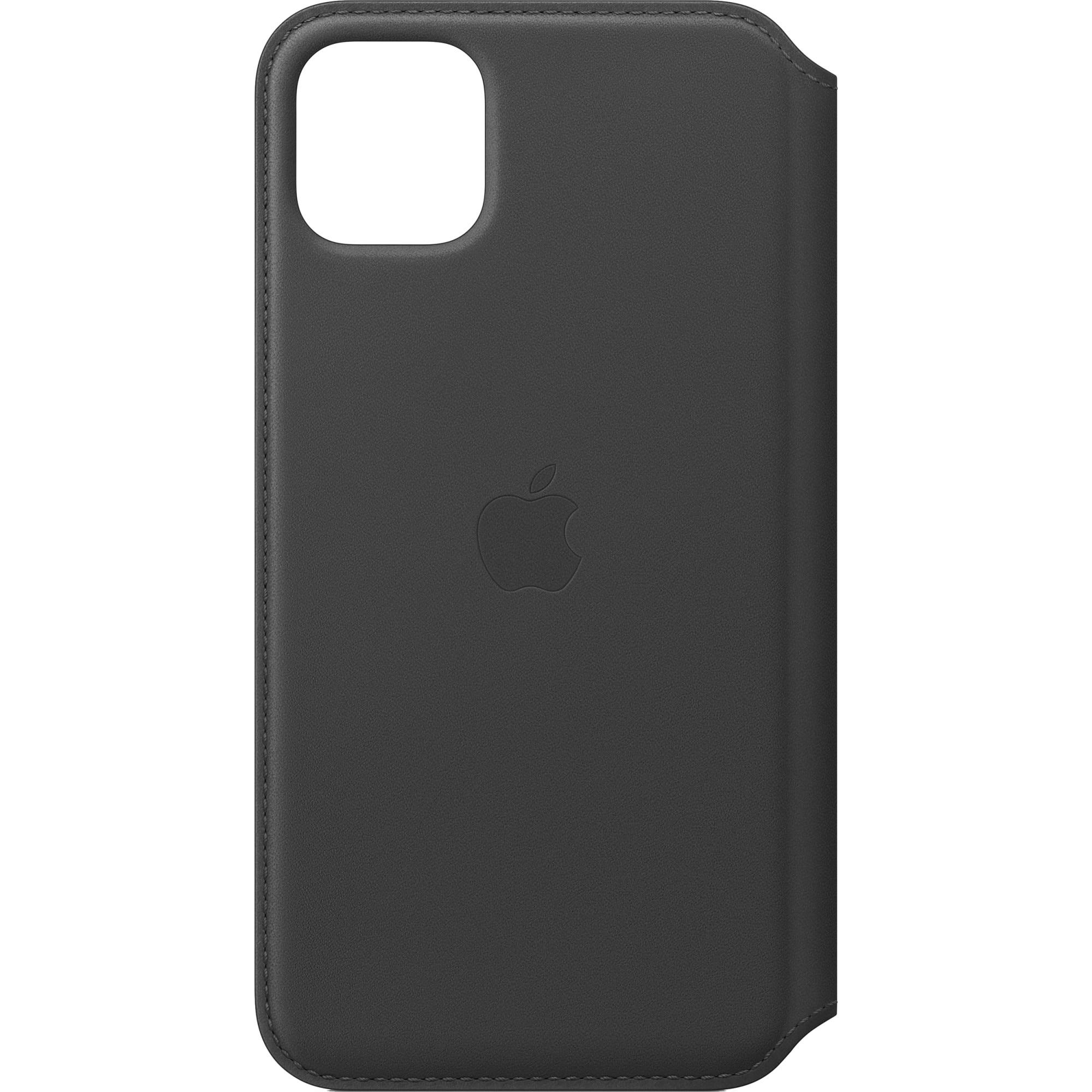 Fotografie Husa de protectie Apple pentru iPhone 11 Pro Max, Leather Folio - Black