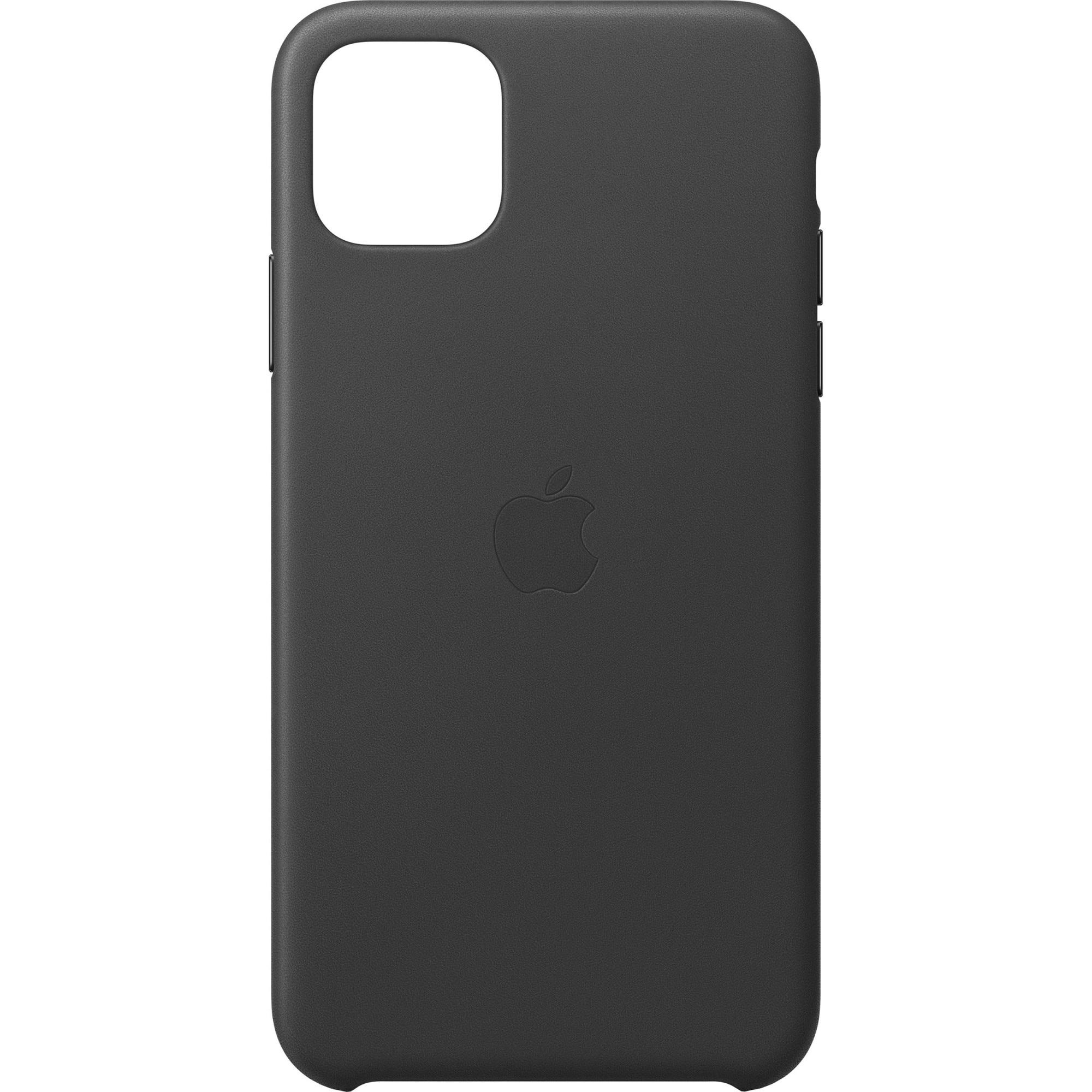 Fotografie Husa de protectie Apple pentru iPhone 11 Pro Max, Piele, Black
