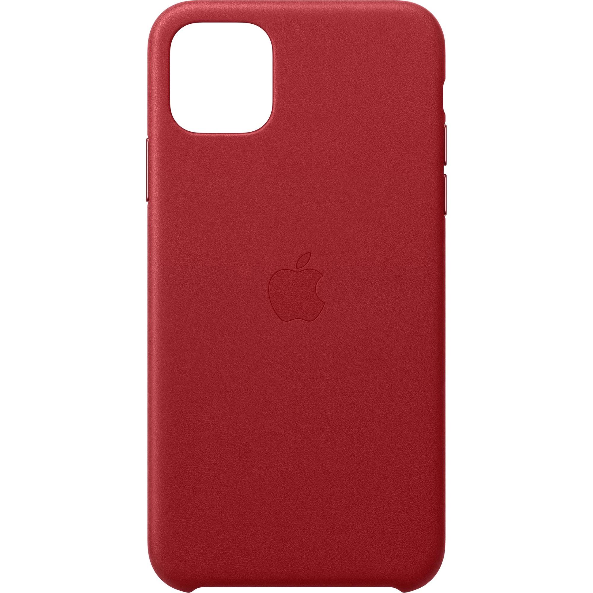 Fotografie Husa de protectie Apple pentru iPhone 11 Pro Max, Piele, Red