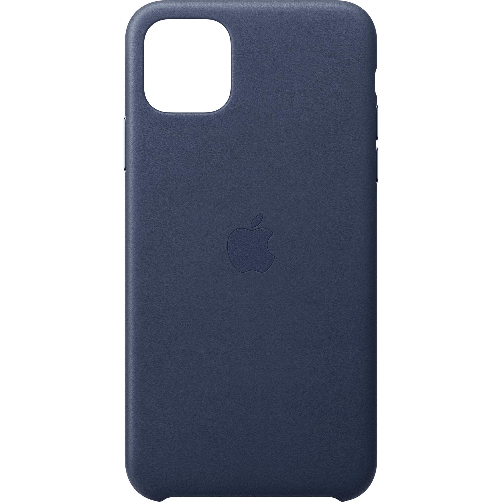 Fotografie Husa de protectie Apple pentru iPhone 11 Pro Max, Piele, Midnight Blue