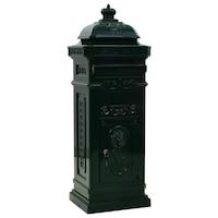 Пощенска кутия vidaXL, алуминий, винтидж стил, 35,5х32х102,5 см, зелена